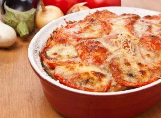 Zapiekanka mięsna  z pomidorami